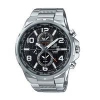 CASIO EDIFICE 世界地圖樣貌呈現 腕錶 ^#45 銀 ^#45 EFR ^#4