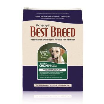 【BEST BREED】貝斯比 全齡犬 無穀雞肉+蔬果配方 飼料 6.8公斤 X 1包