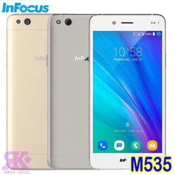 InFocus M535 5.5吋四核雙卡智慧手機-贈專用皮套+9H鋼化玻璃保貼+手機支架