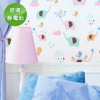 【Conalife】抵抗曝曬! PVC無膠靜電N次貼無殘留玻璃紙 (5入)