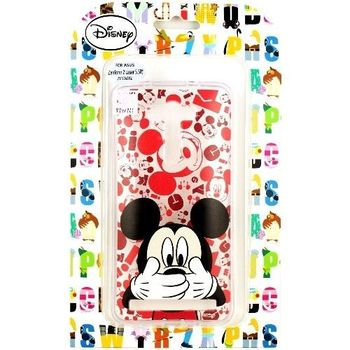 【Disney】ASUS ZenFone 2 Laser 5吋(ZE500KL)  摀嘴系列 彩繪透明保護軟套-米奇