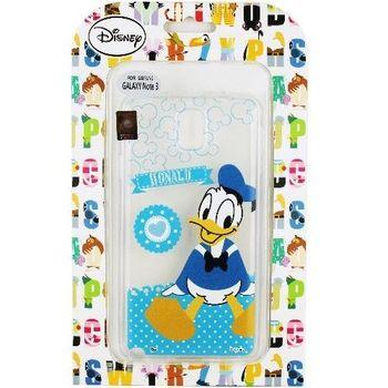 【Disney】Samsung Galaxy Note3 Q版系列 彩繪透明保護軟套-唐老鴨
