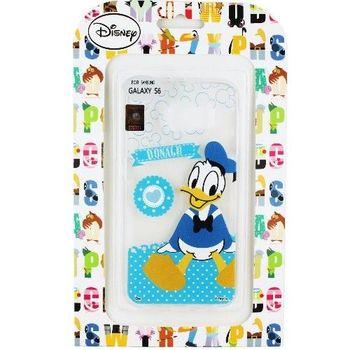 【Disney】Samsung Galaxy S6 Q版系列 彩繪透明保護軟套-唐老鴨