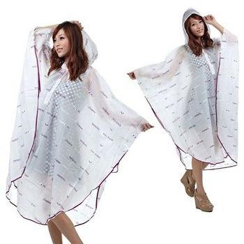【東伸】日系EVA斗篷式雨衣-璀璨紫