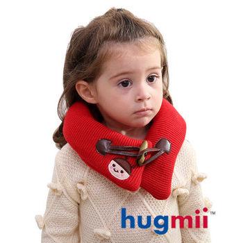 hugmii兒童單色牛角扣保暖脖圍_紅色瓢蟲