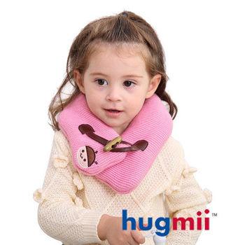 hugmii兒童單色牛角扣保暖脖圍_粉色瓢蟲