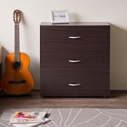 【尼克斯】高雅三抽收納斗櫃 (雙色可選)