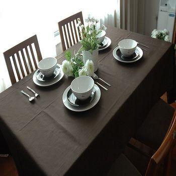 【協貿】純色咖啡時尚布藝高檔桌布