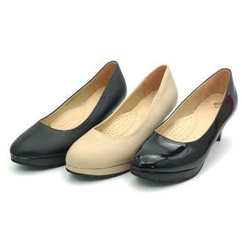 【 101大尺碼女鞋】│大尺碼系列│ 質感時尚高跟鞋 (黑皮 米 黑鏡3色) 5200-154
