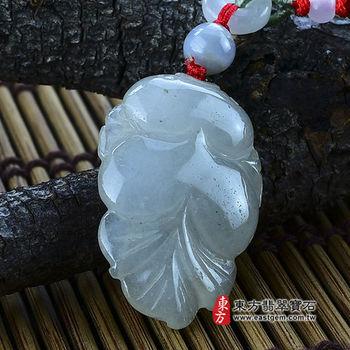 【東方翡翠寶石】金魚A貨天然緬甸玉掛件吊墜(糯種) LE011