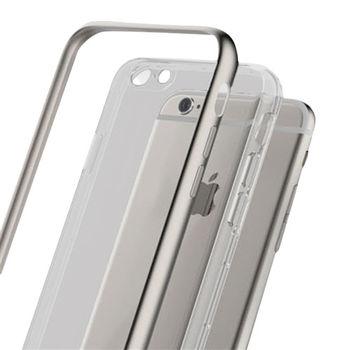 Rock Apple iPhone 6S Plus卡尼系列超薄TPU金屬邊框保護殼