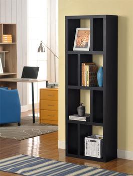 【咱的厝】高雅八格展示櫃/書櫃/收納櫃/隔間櫃(黑色)