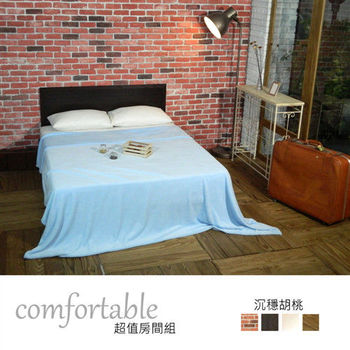 【時尚屋】[WG5]艾麗卡床片型2件房間組-床片+床底1WG5-21W