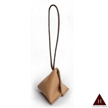 【H-CT】純手工系列三角立體手提真皮零錢包(WU-HM01-Z)