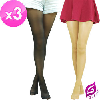【GLANZ 格藍絲】70D 小惡魔防勾纖腿彈性絲襪x3雙組(黑/膚任選)