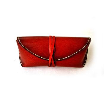 【zoeh-forest】極簡植楺牛皮眼鏡盒 墨鏡盒(棕色)