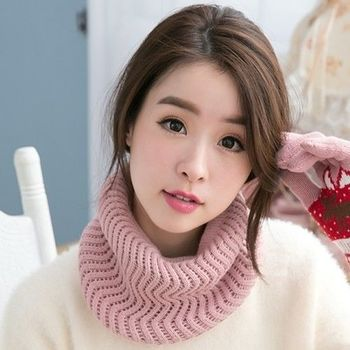 【好棉嚴選】暖之好物  日韓系 Z紋圍巾針織帽/毛線帽 秋冬保暖 兩用造型(多色可選)