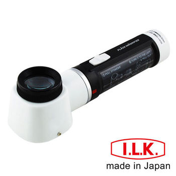 【日本I.L.K.】10x/30mm 日本製LED工作用量測型立式放大鏡 #M-100