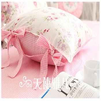【協貿】時尚簡約休閒雪天玫瑰蝴蝶結抱枕含芯