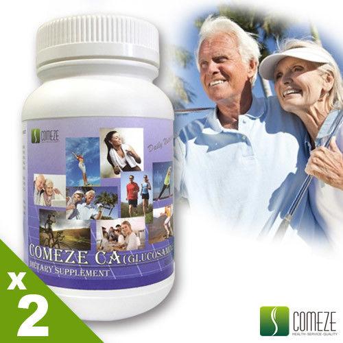 COMEZE康澤 康捷鈣-葡萄糖胺錠(300粒/瓶)大瓶裝x2瓶組(加贈:高單位B群x1瓶)