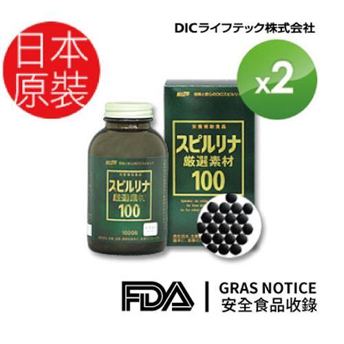 【日本DIC藍藻】嚴選素材100強化錠(1000錠/瓶X2瓶組)