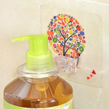 【日本MAKINOU】環保無痕魔術貼沐浴器掛鉤(2入)