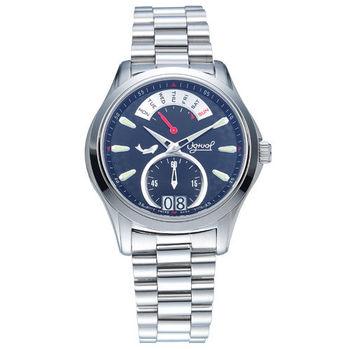瑞士愛其華 Ogival-逆跳極速多顯腕錶(黑) 832NMS