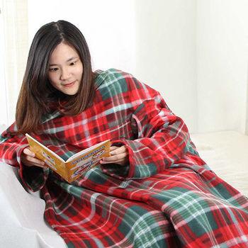 Devil Angel 魅麗天使多功能保暖毛毯/袖毯-聖誕紅款