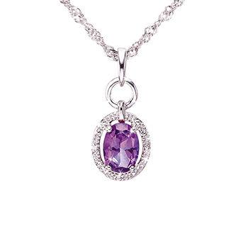 Ogival 愛其華 晶漾瀲灩 天然托帕石八心八箭項鍊-幸運紫