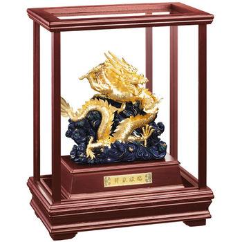 【開運陶源】純金 立體金箔櫥窗(祥龍獻瑞)金龍雕塑