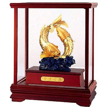 【開運陶源】雅鑑鑫品 純金 立體金箔櫥窗禮品(雙魚吉慶)
