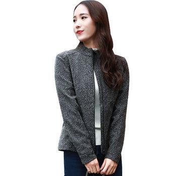 【聖伯納 St.Bonalt】女-短版英倫風時尚防水機能風衣-黑灰色(80176)