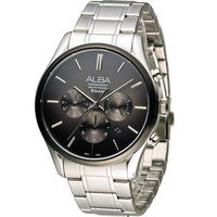 ALBA 簡約 計時腕錶 VD53 ^#45 X238D AT3963X1 灰