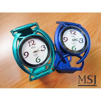 MSJ 時尚青銅質感多色數字手環錶