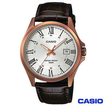 CASIO卡西歐 指針系列時尚商務石英男錶 MTP-1376RL-7B