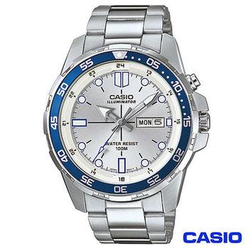 CASIO卡西歐 賽車概念款型男石英腕錶 MTD-1079D-7A1