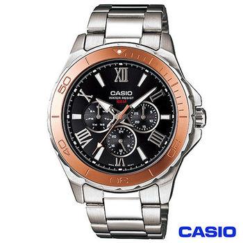 CASIO卡西歐 時尚羅馬數字潮男石英腕錶 MTD-1075D-1A2