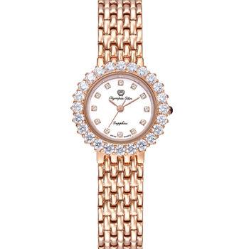 奧林比亞之星Olympia Star -冰心雪蓮珠寶錶--玫瑰金28005 DLR