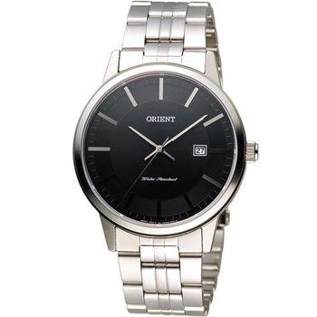 東方錶 ORIENT 日系簡約時尚紳士腕錶 FUNG8003B 黑