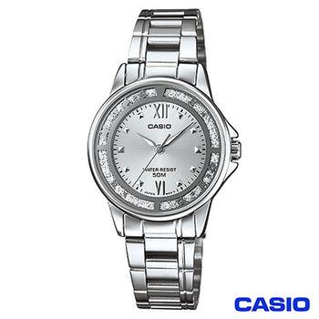 CASIO卡西歐 驚豔造型時尚指針女錶-銀 LTP-1391D-7A