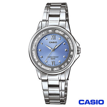 CASIO卡西歐 驚豔造型時尚指針女錶-藍 LTP-1391D-2A