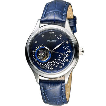 東方錶 ORIENT 藍月奇蹟鏤空機械錶 FDB0A009D