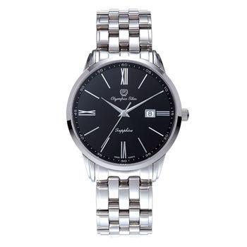奧林比亞之星-羅馬豪情石英腕錶(極致黑)58061MS