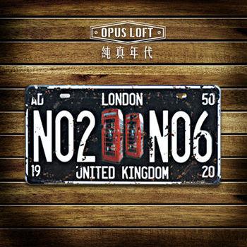 【OPUS LOFT純真年代】仿舊鐵皮車牌/壁飾/壁貼/掛畫/擺飾/裝飾品(倫敦電話亭)
