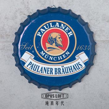 【OPUS LOFT純真年代】仿舊啤酒瓶蓋壁飾 立體牆飾鐵皮畫 居酒屋美式餐廳夜店牆面裝飾掛畫(寶萊納)