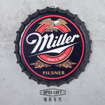 【OPUS LOFT純真年代】仿舊啤酒瓶蓋壁飾 立體牆飾鐵皮畫 居酒屋美式餐廳酒吧牆面擺飾掛畫(美樂)