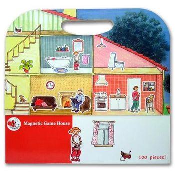 【BabyTiger虎兒寶】比利時 Egmont Toys 艾格蒙繪本風遊戲磁貼書 - 快樂家庭