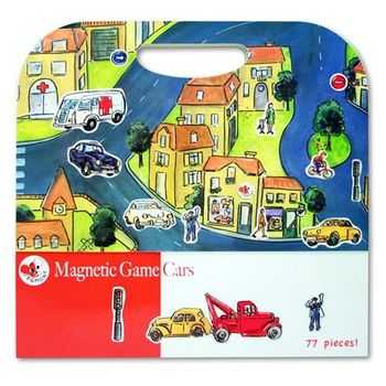 【BabyTiger虎兒寶】比利時 Egmont Toys 艾格蒙繪本風遊戲磁貼書 - 城市交通