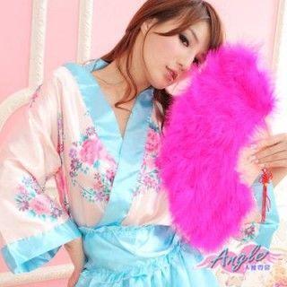【天使霓裳】旗袍專用羽毛扇 角色扮演(桃紅)