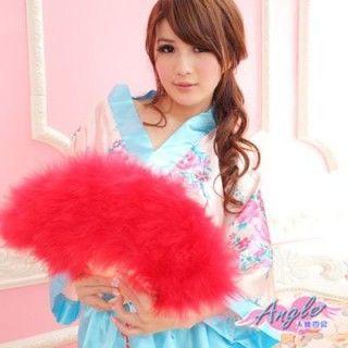 【天使霓裳】旗袍專用羽毛扇 角色扮演(紅)
